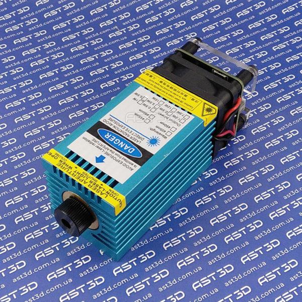 Лазерный модуль 5500 мВт с TTL - синий (диодный блок 2,5 Вт ШИМ для гравера и чпу)