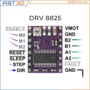 Драйвер DRV8825 описание подключение распиновка 8825 для шагового двигателя