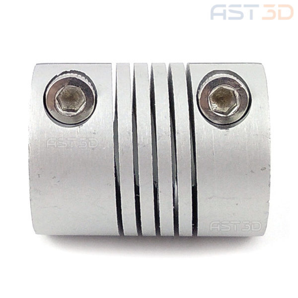 Гибкая муфта 5/6,35/8/10 мм D19 L25 PRO (алюминиевая пружинная, обжимная)