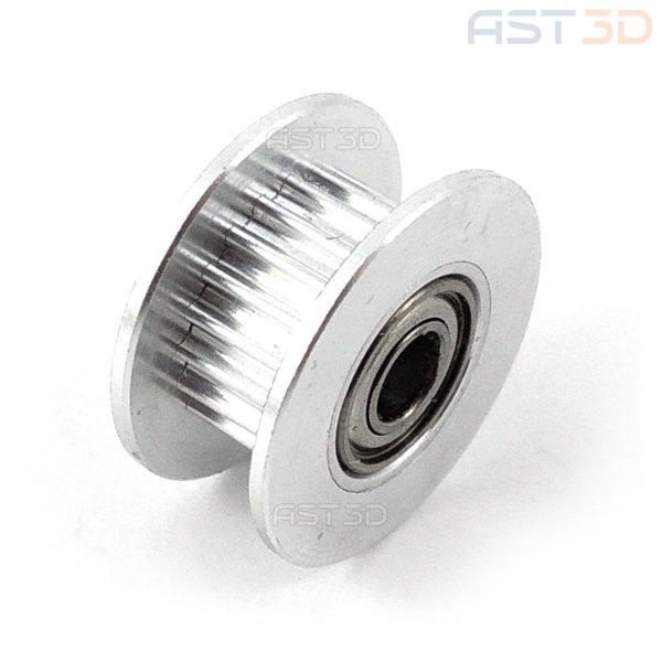 Ролик GT2 опорный, натяжителя ремня 6мм, отв. 3/4/5мм (3D принтер, лазерный гравер)