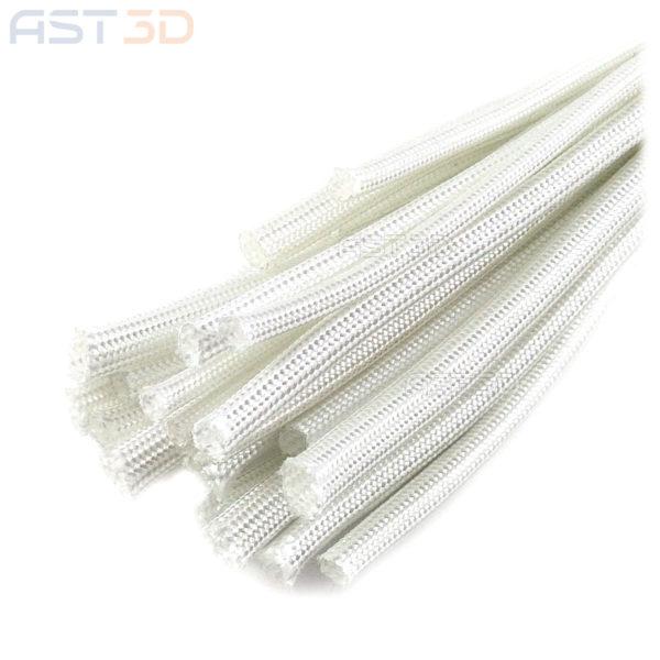 Термостойкая оплетка кабеля - стекловолокно (обмотка стекловолоконная, кембрик)