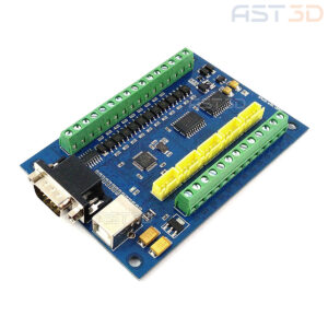 Контроллер ЧПУ 5 осей USB порт и HDR15 (синяя, плата управления MACH3)